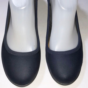 CROCS Blue Synthetic Wedged Heel Pump Size 8 M